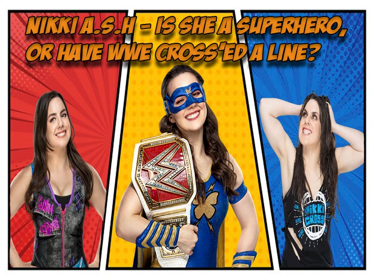 Is Nikki a superhero or have WWE cross'ed a line
